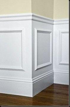 Mettez du relief dans votre intérieur! Si vous possédez déjà un soubassement mural, n'hésitez pas à l'agrémenter de moulures en bois, que vous viendrez peindre avec votre soubassement. Vous ferez un grand effet avec cette astuce déco. Chez Gascogne, nous proposons via notre marque Imberty, un parement bois relief afin de créer des jeux de textures dans votre intérieur : http://www.imberty.fr/fr/portfolio-item/neographe/ #relief #bois #déco
