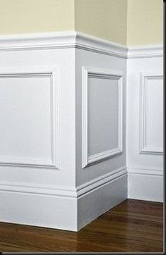 eb098dc31e7f Easy wainscotting idea  buy frames from Michaels