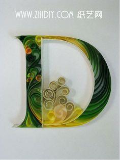 handmade paper art #D #paper #letter
