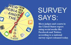 More #judges & #courts in the United States report using #socialmedia like #Facebook & #Twitter according to a national survey report from the Conference of Court Public Information Officers | Court News Ohio
