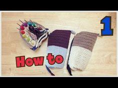 かぎ針ケースの編み方1/2(立つペンケース風) - YouTube