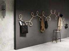 Wall-mounted wooden coat rack WALTZ By Wiener GTV Design design GamFratesi Design Waltz Dance, Ballroom Dance, Home Design, Design Ideas, Entryway Coat Hooks, Wooden Coat Hangers, Japanese Minimalism, Japanese Aesthetic, Modular Walls
