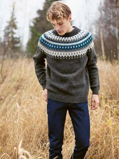 Nordic Sweater, Men Sweater, Knitting Designs, Knitting Patterns, Knit Fashion, Mens Fashion, Knitwear, Knit Crochet, Characters