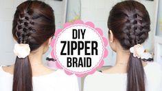 Zipper Braid Suspended Infiinity Braid Hairstyle by Bebexo