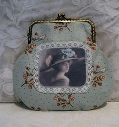 Lyseblå vintage portemone