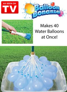 Balloon Bonanza makes it fast and easy to fill enough water balloons for the whole family. The compact design attaches to any hose. Just turn on the water and watch all 40 balloons grow to the perfect size.