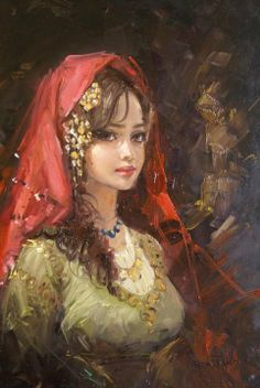 Art*oil painting-watercolors*Sanat - Made in Sanat About Albums Along with a very rich album option, all requests are me. Turkish Art, Foto Art, Beauty Art, Portrait Art, Beautiful Paintings, Art Education, Female Art, Painting & Drawing, Fantasy Art