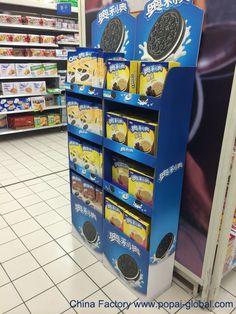 cardboard display,POP display for OREO Retail Display Shelves, Pos Display, China Display, Display Design, Store Design, Promotion Display, Kids Blouse Designs, Cardboard Display, Point Of Purchase