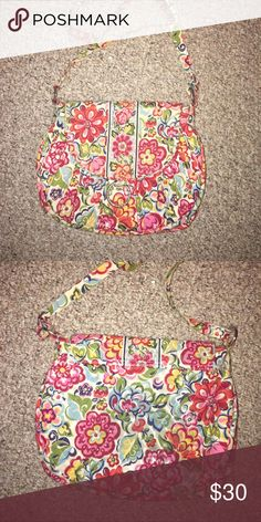 Vera Bradley Crossbody Purse Great purse with plenty of room for a medium sized bag. Has some staining on the back of bag from jeans as shown in the pictures. Vera Bradley Bags Crossbody Bags