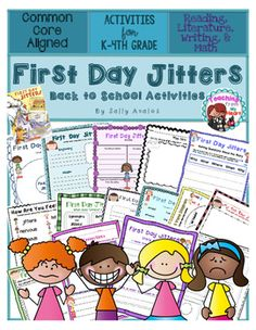 This First Day Jitters activity is included in my First Day Jitters  packet. The packet includes differentiated activities to help you teach several of the Common Core Literature standards from day one.  My students love this activity which I do on the first day of school along with the craftivity included in my packet.