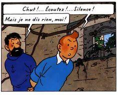 Allez hop, on ne change pas les classiques: Tintin refait sa p'tite vanne favorite.