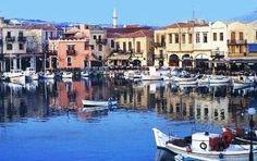 Rethymnon op midden Kreta met oude Venetiaanse haven