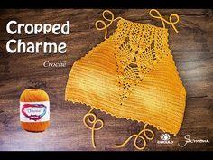 Cropped de Crochê Charme Parte 1 - Professora Simone - YouTube
