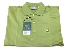 The Masters Augusta National Golf Shop M Men's Fern Green Short Sleeve Polo NEW #Masters #PoloRugby