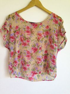 Floral Top from Forever 21 Size M  **This shirt is slightly see-through