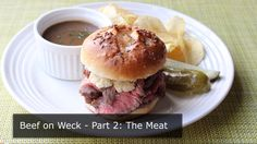 Beef on Weck Part 2: The Meat - How to Pan-Roast Beef for Beef on Weck Sandwich #recipes #food