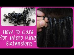 Important hair extension care tips that you need to know hair and how to care for micro ring cold fusion hair extensions instant beauty solutioingenieria Choice Image