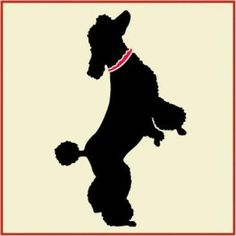Poodle 1 Stencil -- x -- The Artful Stencil -- 10 mil Mylar, walls, pillows and sign painting Dog Quilts, Cat Quilt, Dog Stencil, Stencils, Poodle Drawing, Poodle Tattoo, Folk Art Flowers, Dog Hotel, Dog Rooms