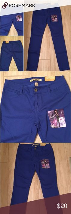 BRAND NEW with tags Royal Blue Jeans BRAND NEW with tags Royal blue jeans/leggings. These jeans are fitted skinny jeans/leggings. There are 2 pockets in front and 2 in the back. Great for fall!! Pants