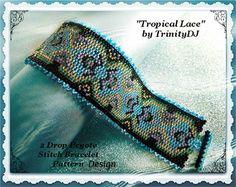 TB-ART-031++Tropical+Lace++2+Drop+Peyote+by+TrinityDJBoutique