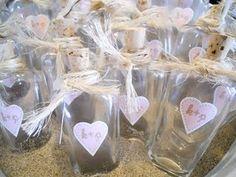 beach bridal shower - message in a bottle