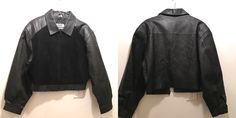 A personal favorite from my Etsy shop https://www.etsy.com/listing/163859065/black-leather-jacket-cropped-bomber