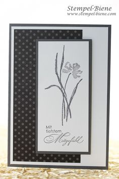 Make a mourning card, Stampin & # With deepest sympathy, Stampin & # s Up Annual Catalog Stampin & # Book Up Collective, Stamp Bee, Stampin Up Stamp Party Homemade Greeting Cards, Making Greeting Cards, Homemade Cards, Fun Fold Cards, Diy Cards, Your Cards, Funeral Cards, Deepest Sympathy, Get Well Cards