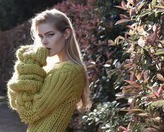 Editorial from Russh Magazine, love this knit, amazing!!! source: blameitonfashion.com