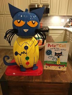 We've gathered our favorite ideas for Book Character Pumpkin Project Pete The Cat Kids, Explore our list of popular images of Book Character Pumpkin Project Pete The Cat Kids in book project decoration ideas. Pumpkin Books, Cat Pumpkin, Pumpkin Crafts, Pumpkin Ideas, Pumpkin Designs, Halloween Books, Halloween Crafts For Kids, Halloween Fun, Halloween Decorations