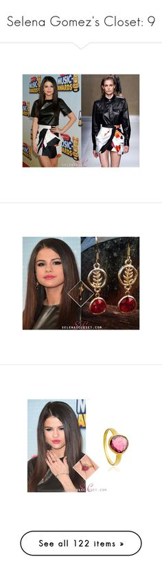 """Selena Gomez's Closet: 9"" by laurie-2109 ❤ liked on Polyvore featuring jewelry, earrings, leaves earrings, leaf earrings, earring jewelry, leaves jewelry, leaf jewelry, pink jewelry, astley clarke and astley clarke jewelry"