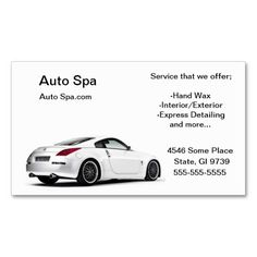 Used car dealer business card auto sales business cards detailing shop business card template reheart Choice Image