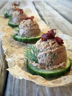 Raw vegan appetizers on pinterest raw vegan cashew for Gluten free canape ideas
