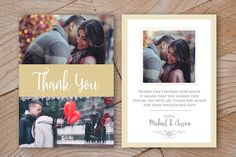 Wedding Thank You Card by ShalexDesigns on @creativemarket