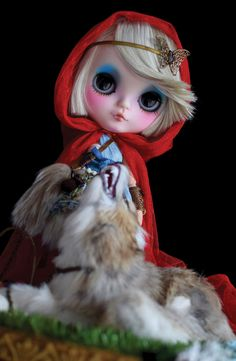 Little Red Riding Hood by Nanuka Custom Blythe Doll