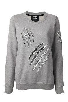 13 Ways to Sparkle This Fall - Best Fall Trends - Elle :: Markus Lupfer Embellished Sweatshirt, $287.13; farfetch.com