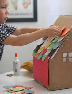 20 Simple Cardboard Box activities for kids! Perfect for all of those leftover boxes from the holidays. will be a huge hit with your kids! activities 20 Simple Cardboard Box Activities for Kids Kids Crafts, Craft Activities For Kids, Crafts To Do, Projects For Kids, Diy For Kids, Paper Crafts, House Projects, Christmas Activities, Craft Ideas
