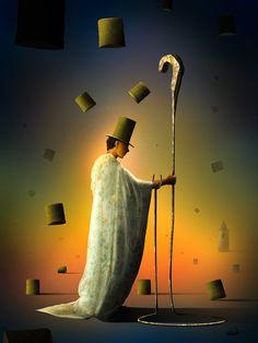 Homem com Cajado. | Marcel Caram