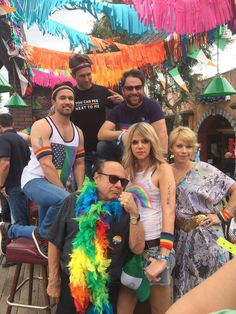The cast of It's Always Sunny In Philadelphia at an LA gay pride festival-Makes me love them even more!!!!