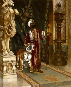 A Sultan And His Tiger by Rudolf Ernst