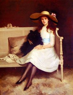 Maude Baille - Pilade Bertieri (1874 – 1965,Italian)