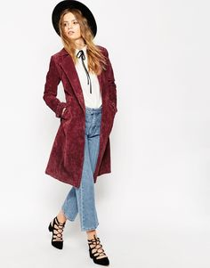 Image 1 of ASOS Trench in Suede