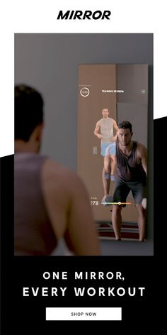 The Future of Fitness is Here. Mirror is the nearly invisible interactive home gym. Yoga Fitness, Fitness Workout For Women, Health Fitness, Zumba, Pilates Barre, Pilates Video, Home Gym Mirrors, Losing Belly Fat Diet, Strength Yoga