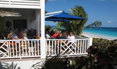 The deck at the Sip Sip for lunch (Harbor Island, Bahamas)