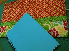 The finished notebook cover measures 15 inches x 9 inches. Your fabric should be your notebook's height and width plus 1 inch. Materials Fabric Lining: 1 rectangle 16′ x 10′ Pocke…