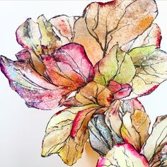 Painted rice paper appliqués by Maggie Austin Cake