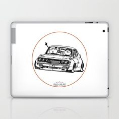 Crazy Car Art 0006 Laptop & iPad Skin by mame_ozizo Car Illustration, Weird Cars, Kustom Kulture, Laptop Skin, Old School, Ipad, Drawings, Artwork, Sketches