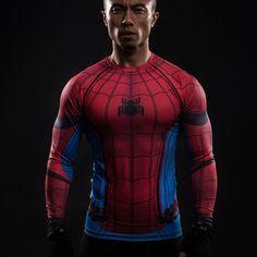 Spiderman Compression Shirt Long Sleeves