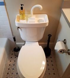 Wash your hands and reuse the water for your next flush