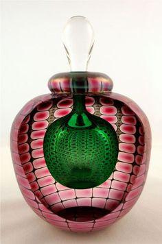 Tom Philabaum's Jade with Ruby Perfume Bottle | eBay
