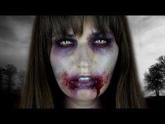 ▶ The Walking Dead ZOMBIE Halloween Tutorial - YouTube - an inexpensive Halloween look